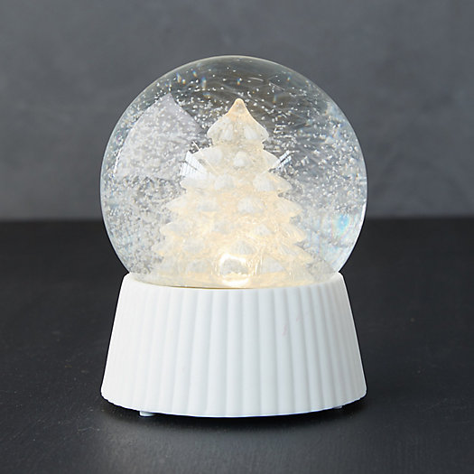 View larger image of Glowing Christmas Tree LED Snow Globe