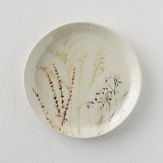 View larger image of Botanical Pressed Stoneware Serving Platter, Round
