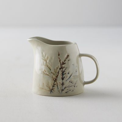 Botanical Pressed Stoneware Creamer Pitcher