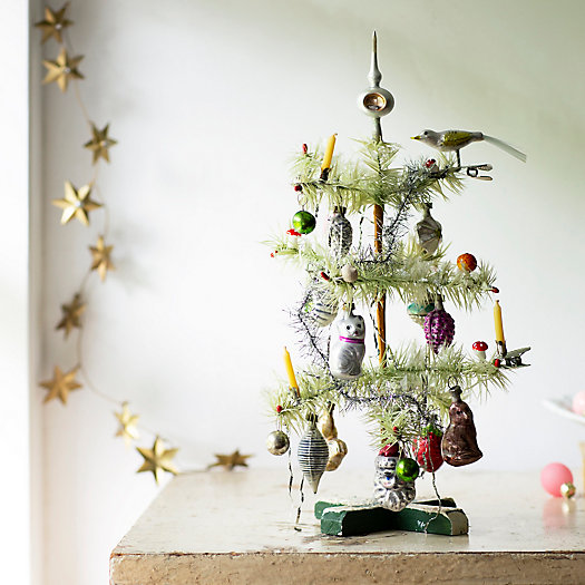 View larger image of Decorated Feather Mini Christmas Tree