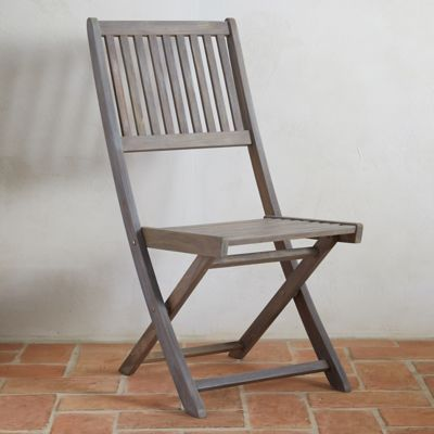 Folding Teak Side Chair