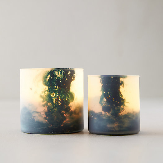 View larger image of Cloudy Blue Votives, Set of 2