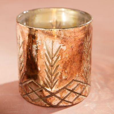 Etched Metallic Votives, Set of 3