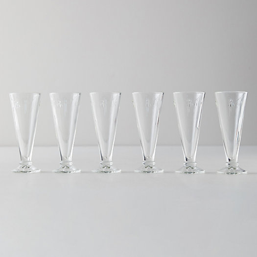View larger image of Bee Flute Glasses, Set of 6