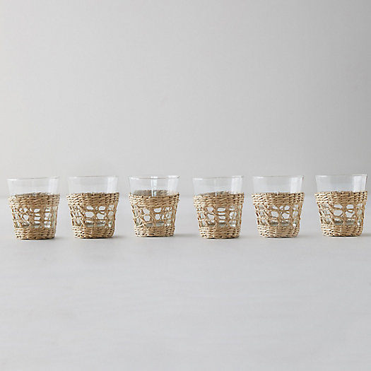 View larger image of Seagrass Wrap Tumblers, Set of 6