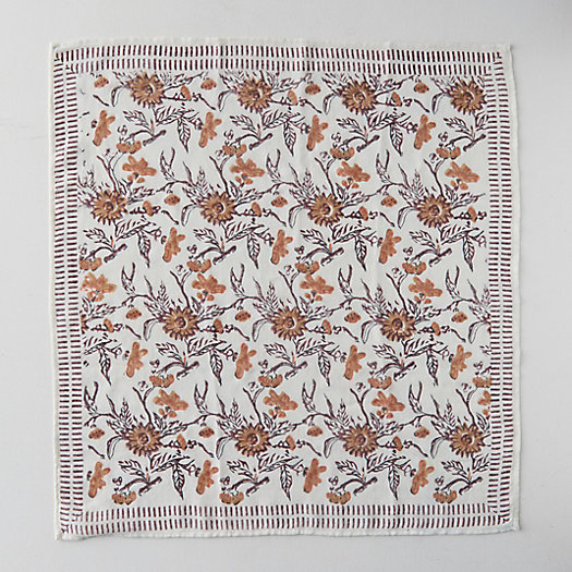 View larger image of Block Print Wool Scarf, Harvest Florals
