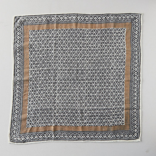 View larger image of Block Print Wool Scarf, Espresso Squares