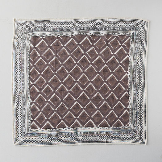 View larger image of Block Print Wool Scarf, Russet Geo