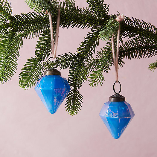 View larger image of Iridescent Diamond Ornament, Set of 2