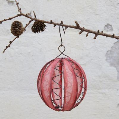 Cotton + Wire Globe Ornament
