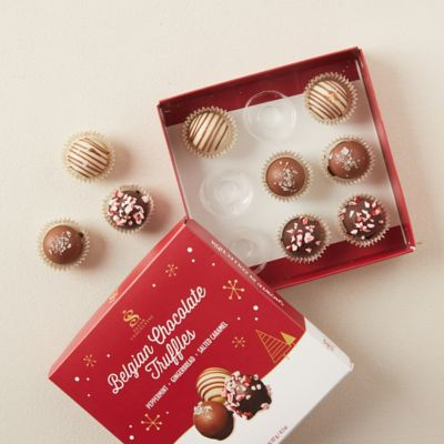 Belgian Chocolate Truffles, Set of 9