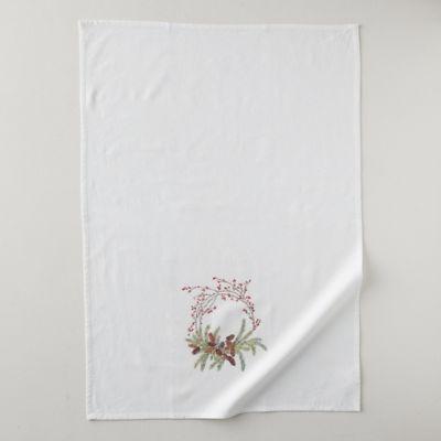 Pine Cone Wreath Tea Towel