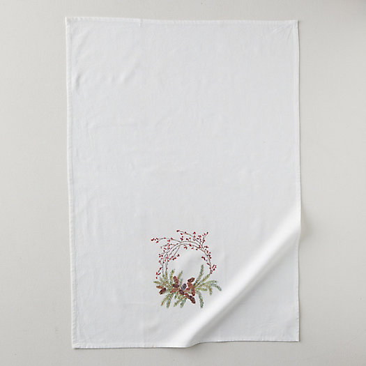 View larger image of Pine Cone Wreath Tea Towel