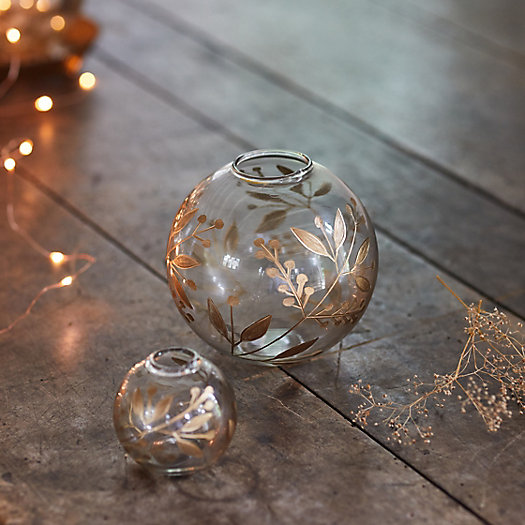 View larger image of Etched Berries Bauble Bud Vases, Set of 3