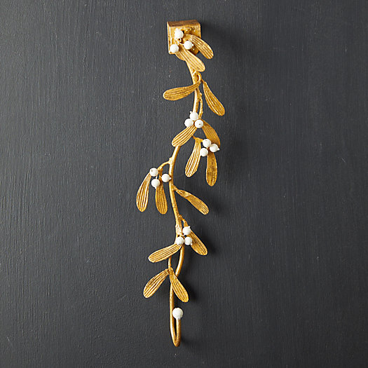 View larger image of Gilded Mistletoe Wreath Hanger