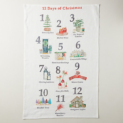 View larger image of 12 Days of Christmas Tea Towel