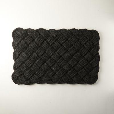 Knot Weave Doormat, Black