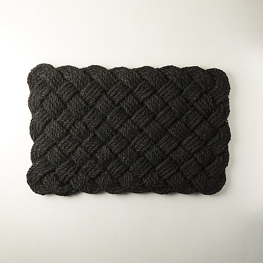 View larger image of Knot Weave Doormat, Black