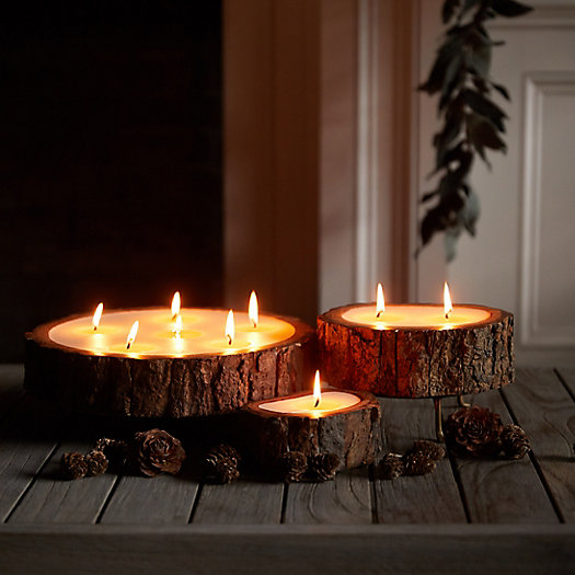 View larger image of Evergreen Tree Bark Candle