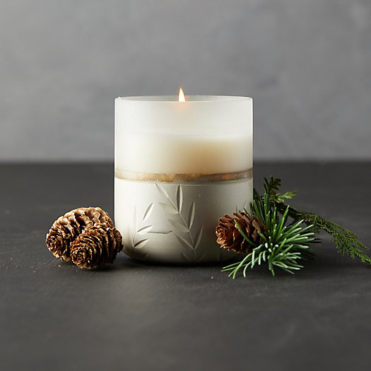 View larger image of Illume Frosted Glass Candle, Small Balsam + Cedar