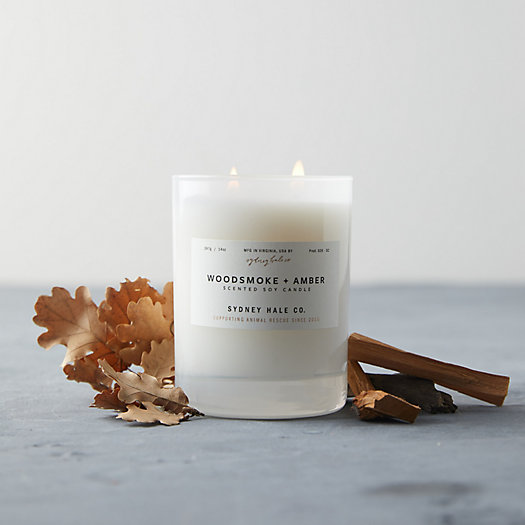 View larger image of Sydney Hale Candle, Woodsmoke + Amber