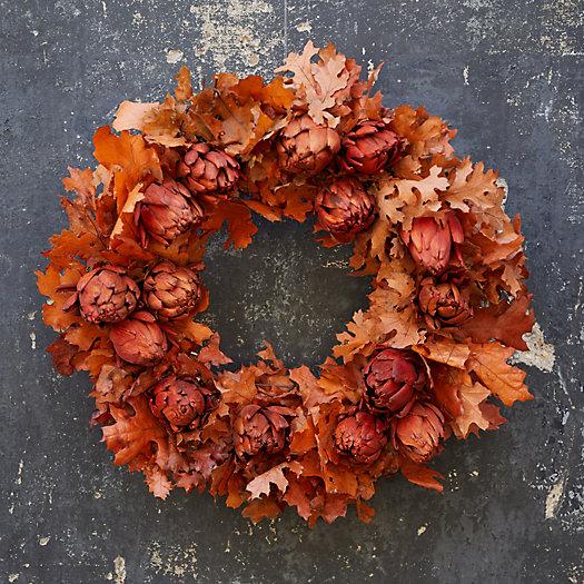 View larger image of Maple Leaf + Artichoke Wreath