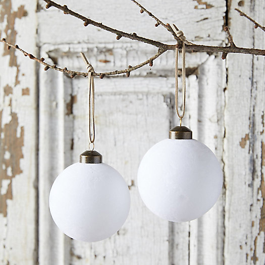 View larger image of Velvet Globe Ornaments, Set of 2