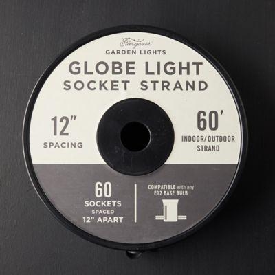 Stargazer Garden Lights Globe Lights Socket Strand, 60'