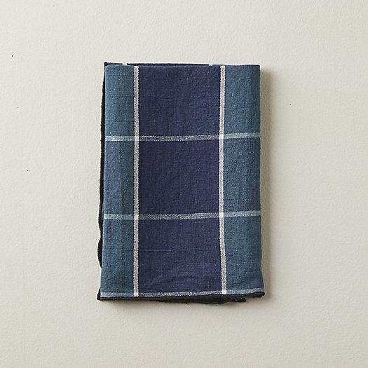 View larger image of Check Linen Blend Napkin