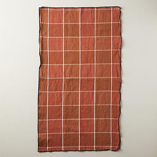 View larger image of Check Linen Blend Tea Towel