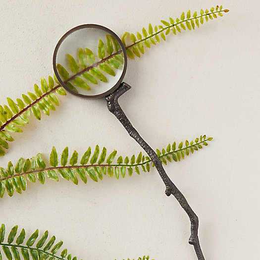 View larger image of Antiqued Brass Magnifying Glass, Sprig