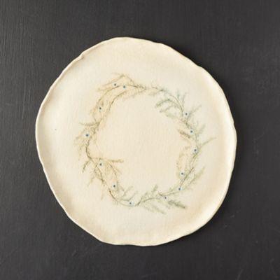 Wreath Stoneware Platter