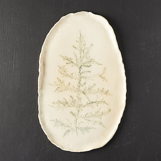 View larger image of Evergreen Branch Stoneware Platter