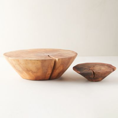 Conical Wood Serving Stand