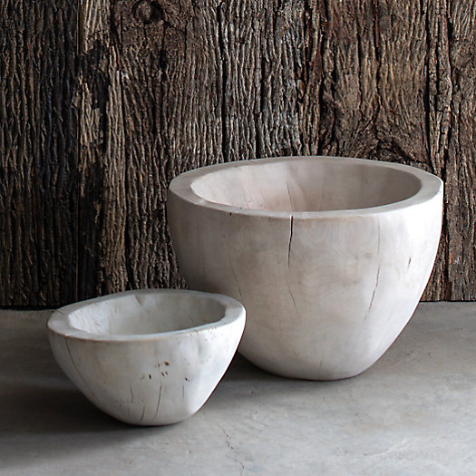 View larger image of Bleached Wood Serving Bowl