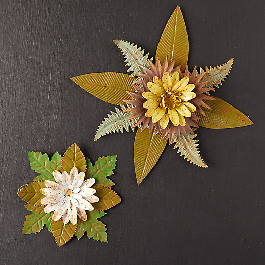 View larger image of Iron Floral Rosettes, Set of 2