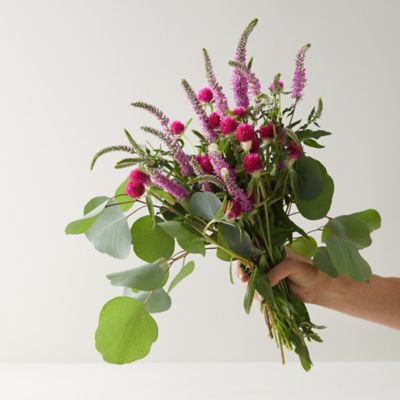 Pink Veronica + Eucalyptus Bouquet