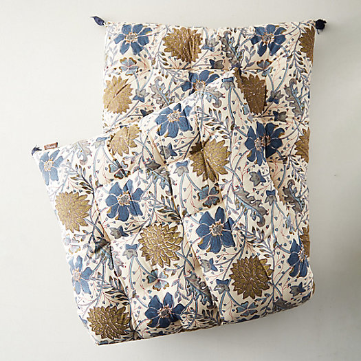 View larger image of Tufted Cushion, Topaz Garden