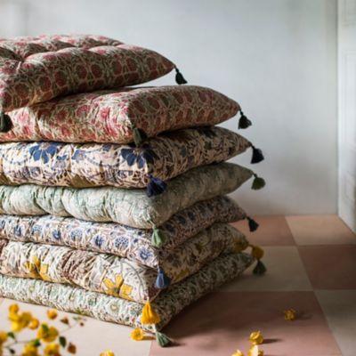 Tufted Cushion, Blush Floral