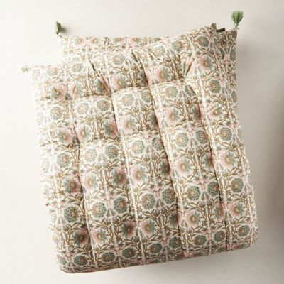 Tufted Cushion, Blush Ivy
