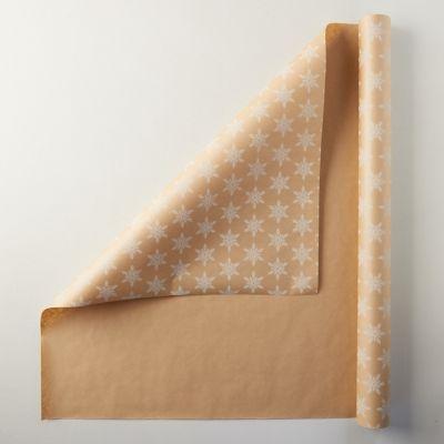 Snowflake Kraft Wrapping Paper