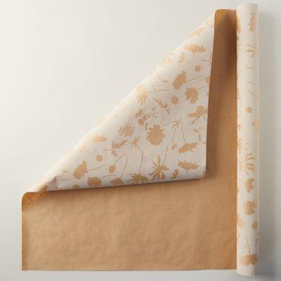 Botanical Kraft Wrapping Paper