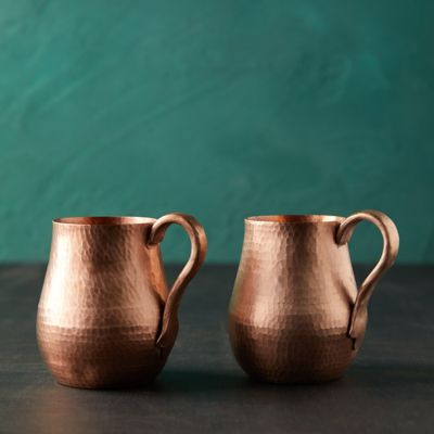Copper Mugs, Set of 2