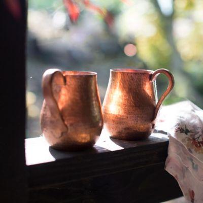 Copper Mugs, Set of 2