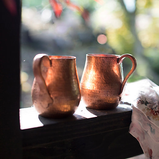 View larger image of Copper Mugs, Set of 2