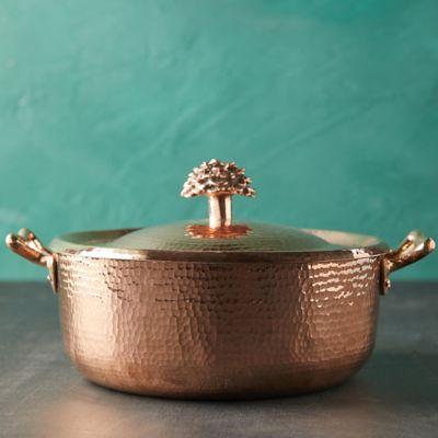 """Copper Casserole Dish, 11"""""""
