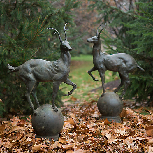 View larger image of Alpine Stag Finial Pair