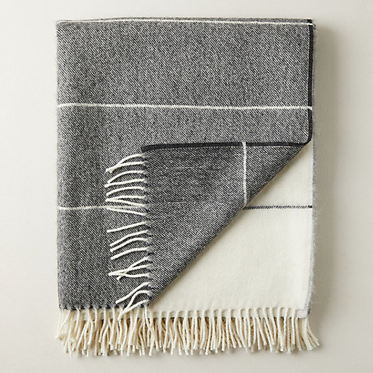 View larger image of Alpaca Merino Blend Striped Throw