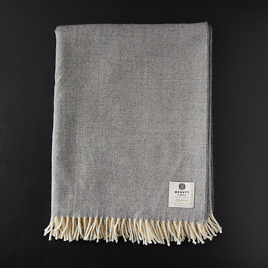 View larger image of Merino Wool Herringbone Throw