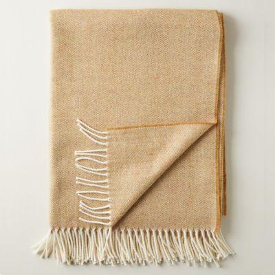 Merino Wool Herringbone Throw